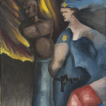 The Officer and the Unarmed Gentleman 9x12 by Michael Farmer